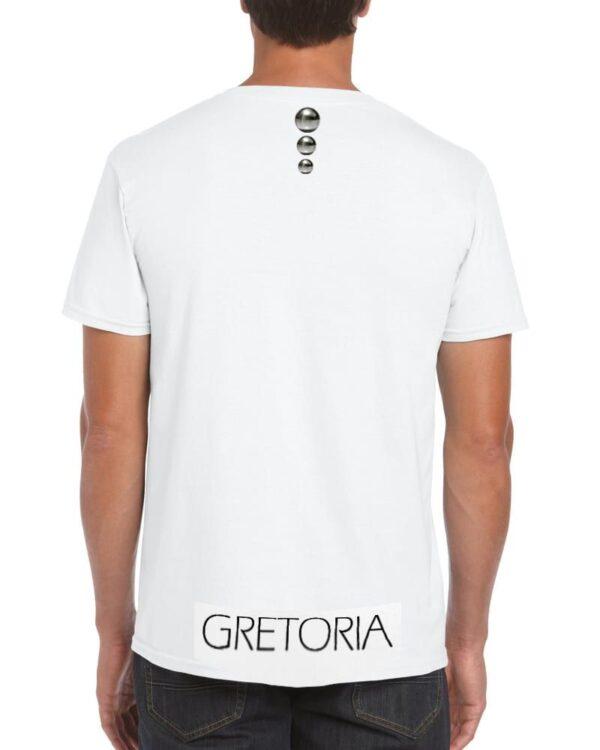 T-shirt bianca uomo retro