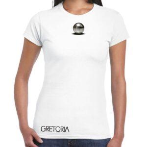 T-shirt bianca donna fronte